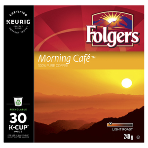 Folgers Coffee Morning Cafe 30 K-Cups 240 g