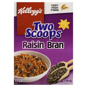 Kellogg's Two Scoops Raisin Bran Cereal 425 g