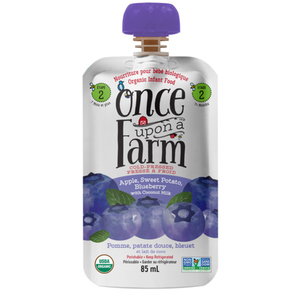 Once Upon a Farm Organic Baby Food Apple, Sweet Potato & Blueberry With Coconut Oil 85 ml