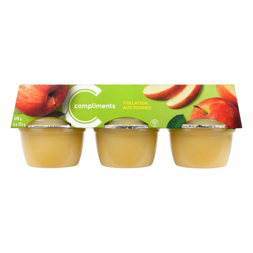 Compliments Apple Snack Sweetened 6 x 113 g