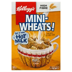 Kellogg's Mini Wheats Maple Cereal 500 g