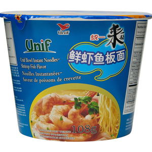 Uni-President Super Noodles Bowl Shrimp Fish 118 g