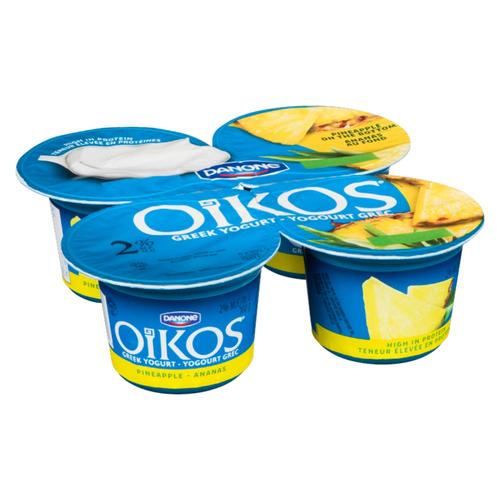 Oikos Greek Yogurt Pineapple 4 x 100 g