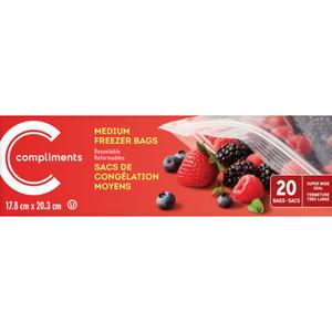 Compliments Freezer Bags Medium 20 EA