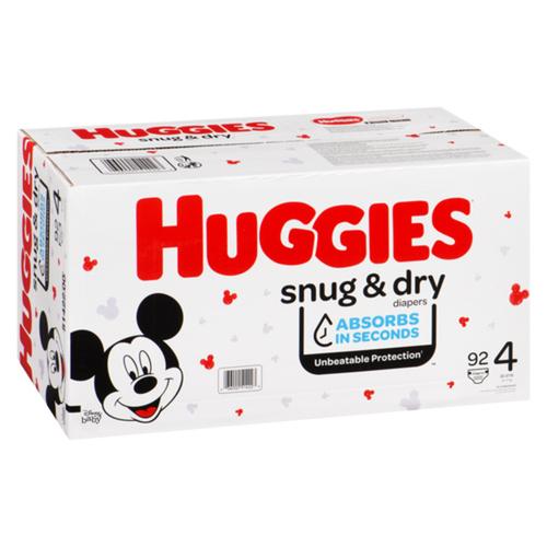 Huggies Snug & Dry Size 4 Giga Diapers, 92 count