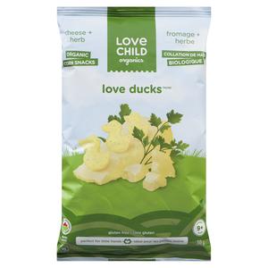 Love Child Organics Love Ducks Corn Puffs Cheese & Herbs 30 g