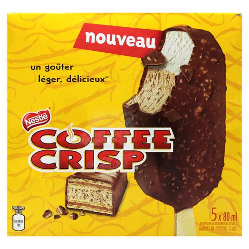 Nestlé Coffee Crisp Frozen Dessert Bars 5-Pack 5 x 80 ml