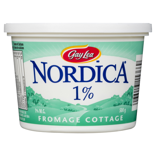 Gay Lea Nordica Light 1% Cottage Cheese 500 g