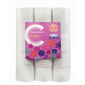 Compliments Bathroom Tissue 425 Sheet 2 Ply 30 EA