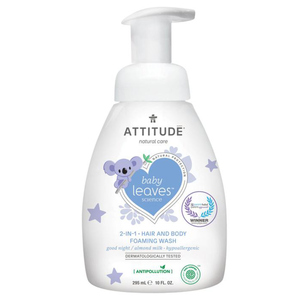 Attitude Baby Leaves 2-in-1 Hair and Body Foaming Wash Almond Milk 295 ml