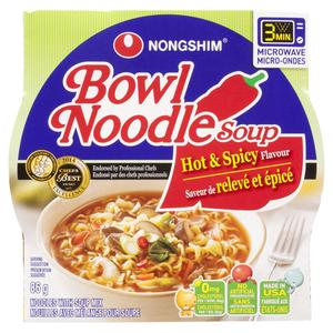 Nong Shim Bowl Noodle Soup Hot & Spicy 86 g
