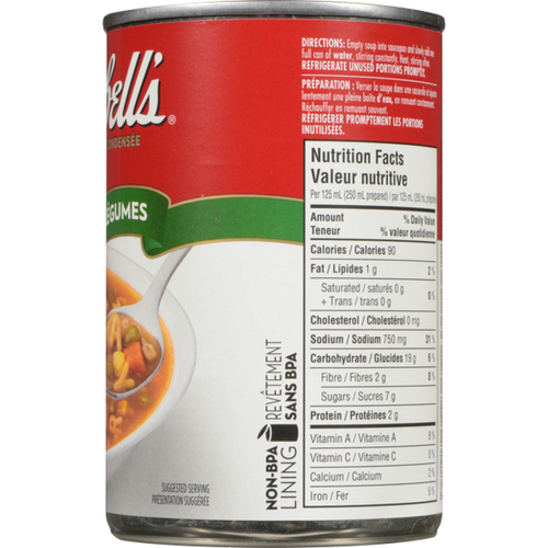 Campbell's Alphabet Vegetable Condensed Soup 284 mL