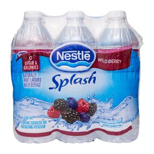 Nestlé Splash Wildberry Water 6 x 500 mL