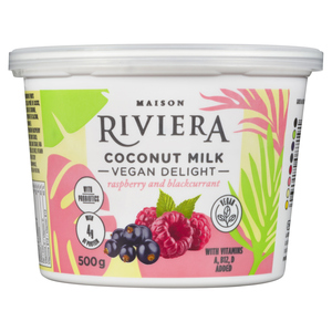 Riviera Vegan Delight Coconut Milk Raspberry & Blackcurrant 500 g