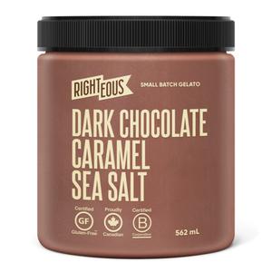 Righteous Gelato Gluten-Free Gelato Dark Chocolate Caramel Sea Salt 562 ml