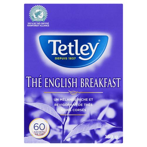 Tetley English Breakfast Tea 60 EA