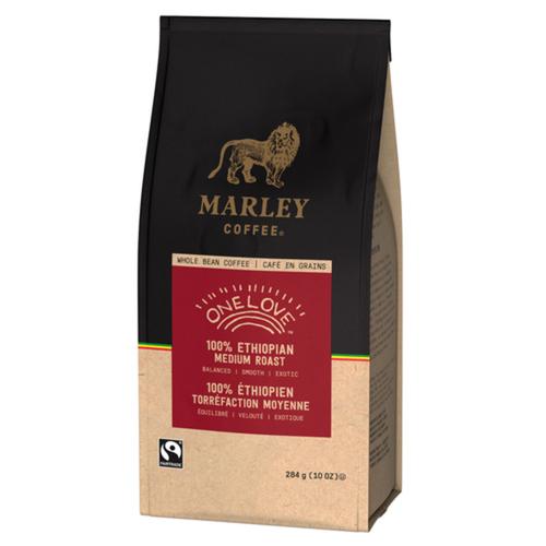 Marley Coffee Whole Bean Coffee One Love Medium Roast 284 g