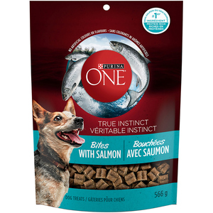 Purina One Salmon Bites Dog Treats 566 g