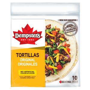 Dempster's Plain Tortillas 7-inch 10 Pack 340 g