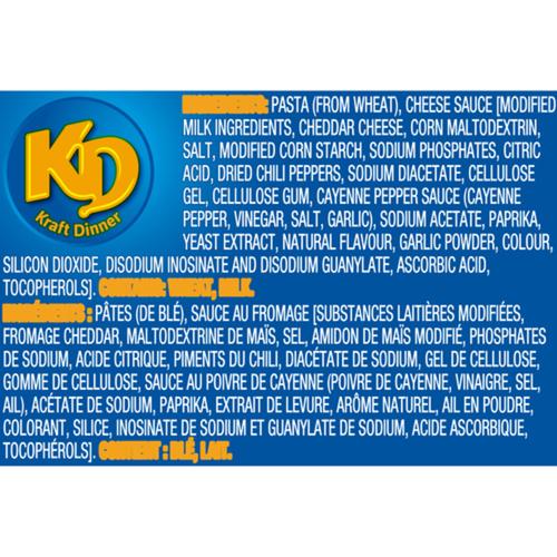 Kraft Dinner Macaroni & Cheese Spicy Cheddar 156 g