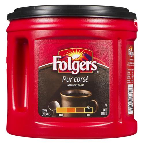 Folgers Ground Coffee Intensely Dark 750 g