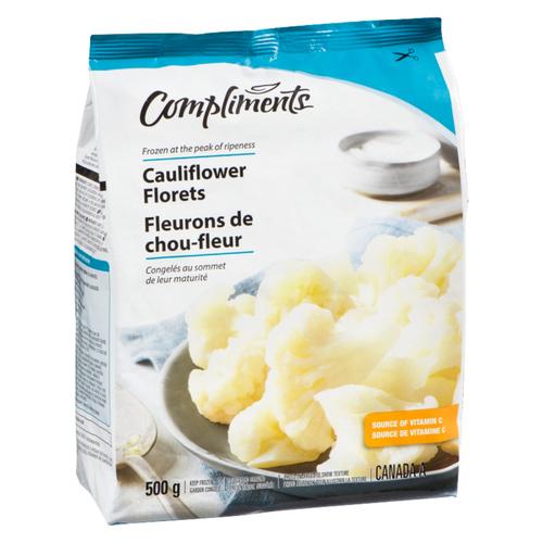 Compliments Cauliflower Florets Frozen Vegetables 500 g