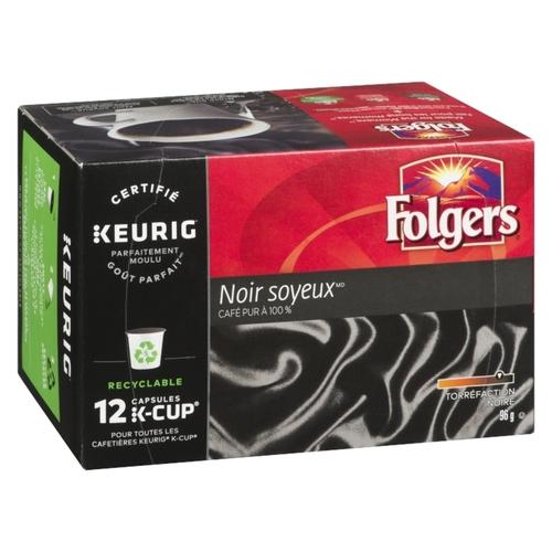 Folgers Coffee Black Silk 12 K-Cups 96 g