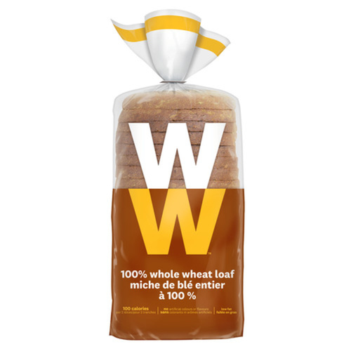 WW 100% Whole Wheat Bread Loaf 450 g
