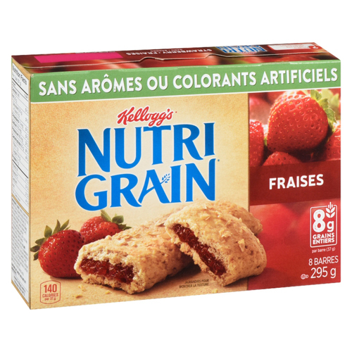 Kellogg's Nutrigrain Strawberry Cereal Bars 8 x 37 g