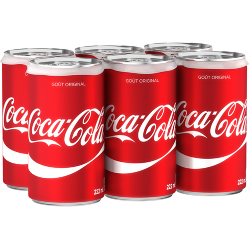 Coca-Cola 6 x 222 mL