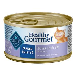 Blue Buffalo Healthy Gourmet Cat Food Flaked Tuna Entrée In Gravy 85 g