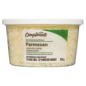 Compliments Shredded Cheese Parmesan 125 g
