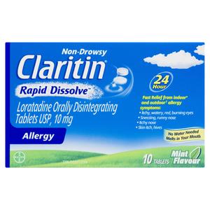 Claritin Rapid Dissolve Antihistamine Tablets 10 EA