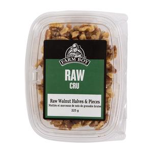 Farm Boy Nuts Raw Walnut Halves & Pieces 225 g