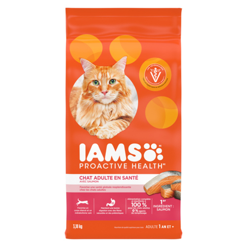 IAMS Proactive Health Healthy Adult Dry Cat Food with Salmon 3.18kg
