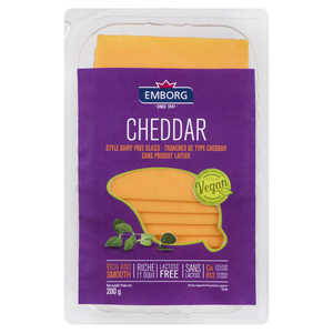 Emborg Non-Dairy Cheddar Style Cheese Slices 200 g