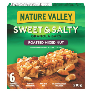 Nature Valley Chewy Granola Bars Sweet And Salty Roasted Mixed Nut 6 Count 210 g