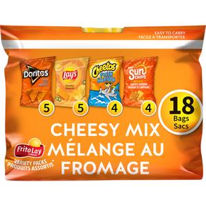 Frito Lay Snacks Cheesy Mix Variety Pack 504 g