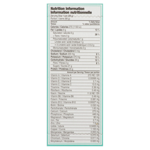 Clif Builders Protein Bars Chocolate Mint 408 g