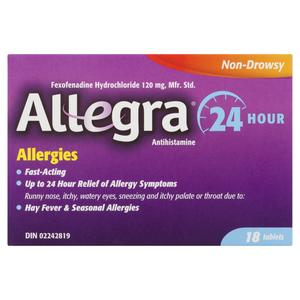 Allegra 24 Hour Relief Tablets 18 EA