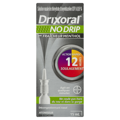 Drixoral Cling No Drip Nasal Decongestant Methol 15 ml
