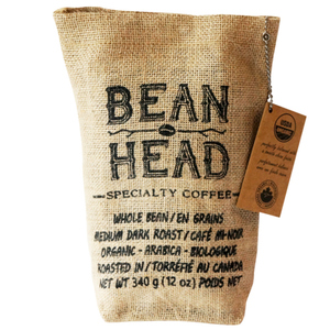 Bean Head Organic Specialty Whole Bean Coffee 340 g