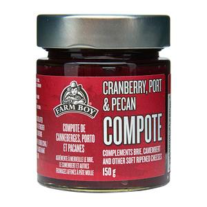 Farm Boy Compote Cranberry, Port & Pecan 150 g