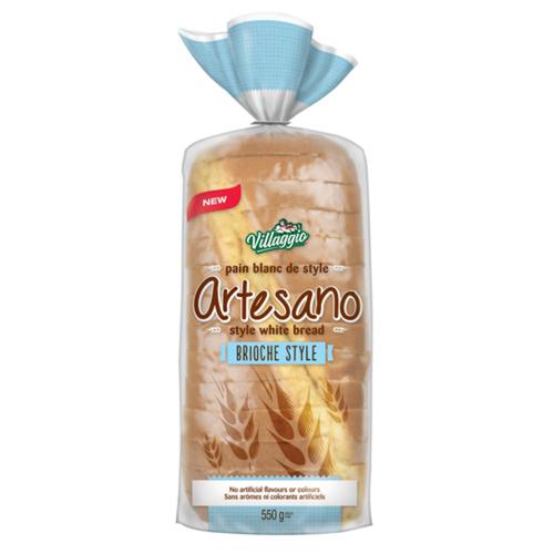 Villaggio Artesano White Bread Brioche Style 550 g