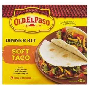 Old El Paso Taco Soft Dinner Kit 400 g