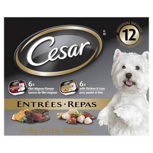 Cesar Classic Loaf in Sauce Wet Dog Food Filet Mignon Chicken & Liver 100g