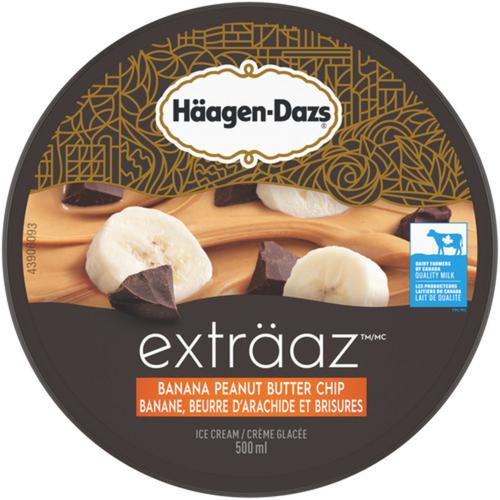 Häagen-Dazs Exträaz  Ice Cream Banana Peanut Butter Chip 500 mL