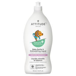 Attitude Nature+ Little Ones Baby Bottle & Dishwashing Liquid Sweet Lullaby 700 ml
