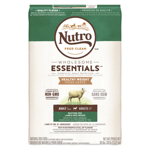 Nutro Wholesome Essentials Healthy Weight Adult Dog Food Lamb & Rice 13.61 kg