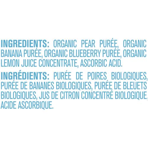 Gerber Organic Purée Pear, Banana & Blueberry 128 ml